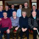 Peter Murphy and members of Mattock Rangers at Peter's 70th birthday in Matthews Pub, Collon