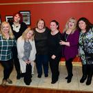 The cast of Menopause The Musical at the TLT Concert Hall, pictured with TLT Concert Hall manager Jenny Fagan, Ruth Kimberley, Rebbeca Wheatley (Casualty), Sue Collins of The Nulas, Mary Byrne (The X Factor), Linda Nolan (The Nolans) and Cheryl Ferguson (East Enders)