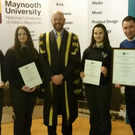 Maynooth University held a ceremony to congratulate all students on their high achievements in their junior certificate 2015 in Higher Level Business Studies. In the picture is Claire Keegan, Nobber, Kate Meade, Professor Philip Nolan President of Maynooth University, Tees Meade & Cathal Rodgers Business Studies Teacher, O'Carolan College Nobber