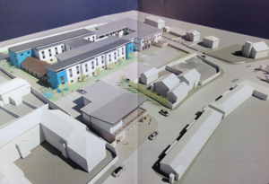 The nursing home project for United Park with the Sluagh Hall in top right corner