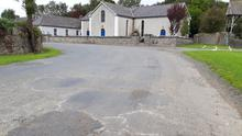 The road at Monknewtown church