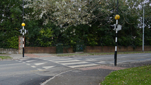 The pedestrian crossing on the Beamore Road