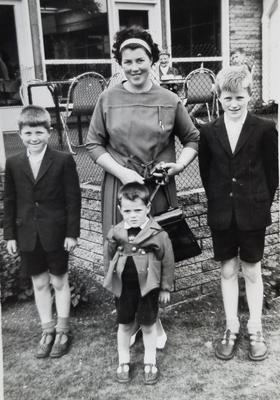 A trip to the zoo in 1964: (l-r) Maurice, with his mother Bridie, younger brother James with the reins, and older brother Eric, the well known local photographer