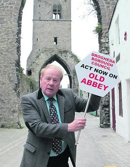 Cllr. Frank Godfrey is calling for the area around Old Abbey to be upgraded. Photo: Paul Connor