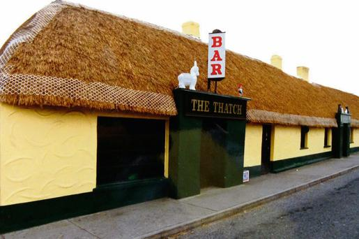 The Thatch pub in its glory days. Locals want to see it restored.