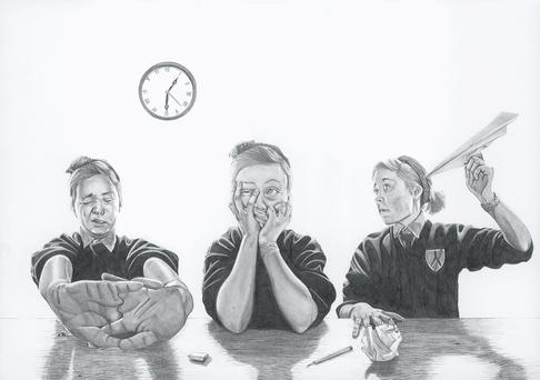 Katya's work, 'The Longest Day', received high praise from the adjudicator of the Texaco Children's Art Competition.