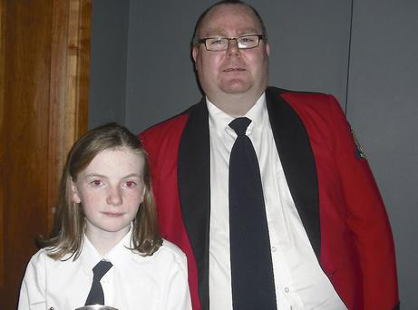 Junior Band Person of the Year Sinead Wynne and her teacher Mark Newman.