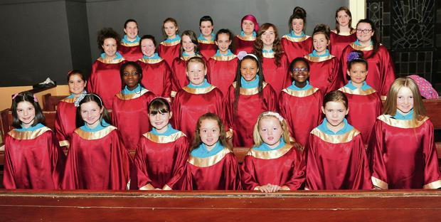 The Lourdes Youth Choir, members of which will sing at the launch mass for Catholic Schools week this coming Sunday in St. Peter's Church.