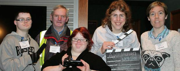 The Ablevision crew get ready for the second film festival, which comes to the Droichead Arts Centre on Friday and Saturday, March 28 and 29.