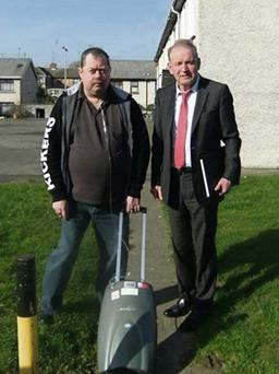 Bernard Lenehan (right with Cllr. Tommy Byrne).