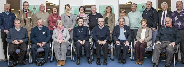 The new committee of the Louth Older People's Forum, led by chairperson Ann Ward (front centre).