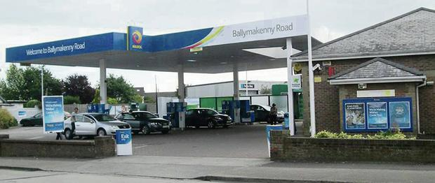 The robber walked into the petrol station at 6.30 p.m. on Monday, armed with a knife.