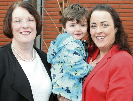 Julie Kierans, her daughter Anne Marie and grandson Lochlann at the launch.
