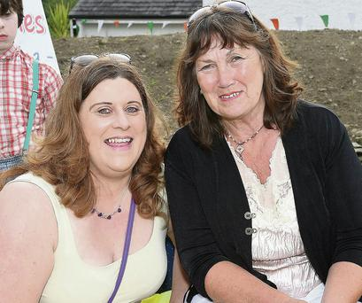 Bernadette Sharkey and Dolly Flanagan at the Scoraíocht outdoor céilí.
