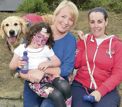 Megan and Nicola Connor and Brenda Flynn with Lucy.