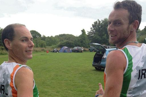John Fulham with current World 1,500m Retro Running Champion and Donegal born Garret Doherty.