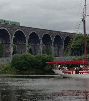 By train and boat, the Drogheda viaduct is a wonderful sight. It is now the subject of an RTE programme.