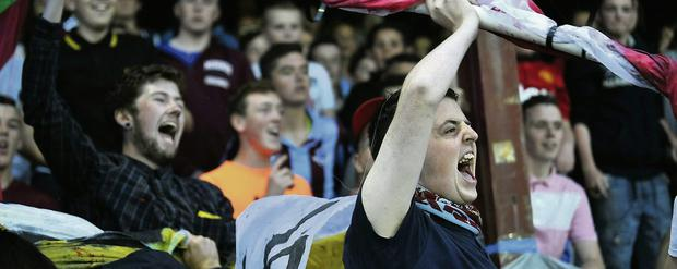 Drogheda fans were in full voice at the derby