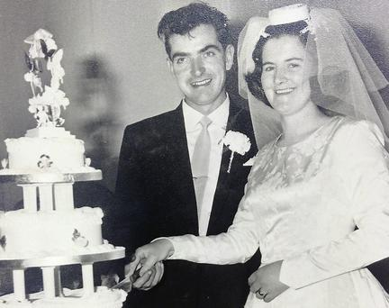 Tom and Imelda McDonnell on their wedding day.