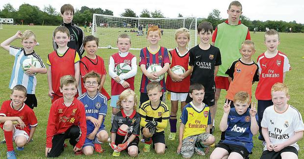 Local children enjoyed the fun at the soccer camp at Albion Rovers FC.