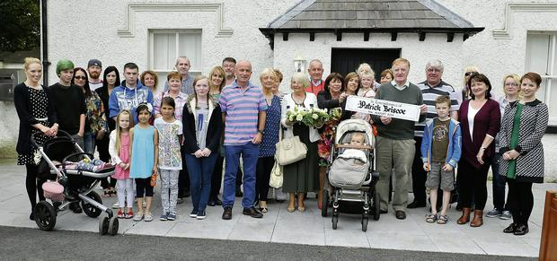 Patrick Briscoe's relatives who attended a memorial in his honour at the Oldbridge Estate.