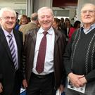 Former Principal Michael Reynolds, Kevin Magee and Noel Keane at the opening of the new extension at St Josephs