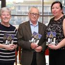 Ann Shortt, Patsy Rice and Irene McAuley representing the Alzheimers Association at the book launch on Thursday