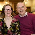 Ciara and Ciaran Nulty at the Faulty Towers night in the City North Hotel. Photo: Shane Maguire Photography.