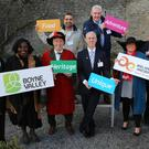 Roseanne Donegan, Monasterboice Inn, Lucy O'Reilly, The Kells Experience, Brian McCann, Newgrange Falconry, Craig Kearns, Pillo Hotel, Nitin Gautam and Carmel Corrigan of Copper and Spices, Colm Murphy, Matthews Tours and Peter Byrne, City North Hotel at the Launch of the Boyne Valley Tourism Strategy 2016 - 2020 at the Battle of the Boyne Centre, Oldbridge