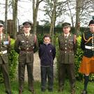 Sgt Paddy Hodgins, Lt Keefe Meehan, Shane McKeown (student, St. Joseph's Secondary School), Comdt Enda De Bruin and Pte Eoghan Donnelly