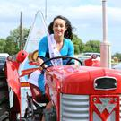 Louth Rose, Megan Ferguson starts off on her journey to The Rose of Tralee Festival from St Mary's Hall, Cooley on a Massey Ferguson