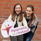 Pictured at the launch of Dyspraxia Awareness Week 2016 are Chloe Browne from Drogheda and Hannah McDonnell from Dublin