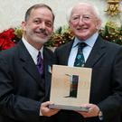 Brendan Fay with President Higgins