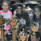 Grainne Brady, Tomi Akingba and Taofeekhat Adigun with their Irish Hip Hop Idol trophies