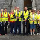 Order of Malta members and local walkers during the Healthy Steps series