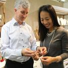 Helen Cui shows off some of her jewellery