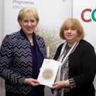 Minister Heather Humphreys and Louth County Council CEO Joan Martin.