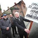 Frank Godfrey's group is calling for the derelict St. Jonh's Home at St. Peter's Square to be put to good use