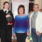 Jayne O'Brien and Willie Mahony present the overall award to St. John's Ambulance. Accepting on behalf of the group are Colin Maher, Darragh O'Heiligh, Emma Jane O'Heiligh, Angela Haggins, Sean Lambe and Michael Francis