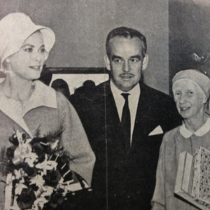 Their Serene Highnesses, Prince Rainier and Princess Grace with Mother Mary Martin in 1961.