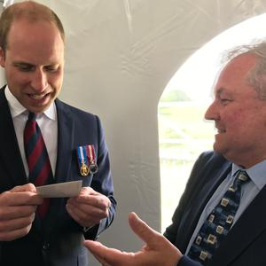 Prince William with Brian Hanratty
