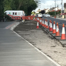 Work on the new bus bay on the Donore Road is well underway.