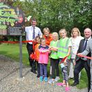 Eimear and Aoife Costello together with Daisy and Grace Caraher officially open the