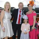 Anne Coleman, Laytown Co-ordinator, Peter Dolan, General Manager Scotch Hall Shopping Centre, with Best Dressed lady Sophie Hunter and her daughter Katie. Photo: Jimmy Weldon