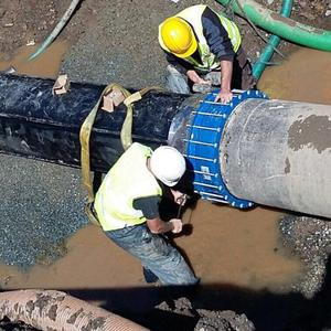 Major repairs had to take place on a main pipe at Staleen.