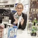 Gin Ambassador Kelly Ann Woodhead with a selection of Irish gins at The Loop at Dublin Airport