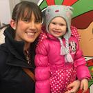 Grace (4) with Amanda Mahon from Drogheda hoping to win a family trip to Lapland with Drogheda Retail Park and Sunway Holidays