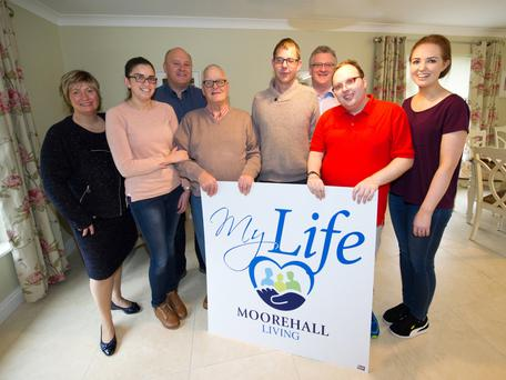 The My Life team and residents at the launch of the new service in one of the My Life houses in Ardee this week