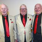 Teddy McConnon, John Clarke and Mel Healy, members of the Drogheda Male Voice Choir.