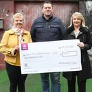 At the cheque presentation at Fusion were Martina Kelly, Neil Kelly and Grace McArdle
